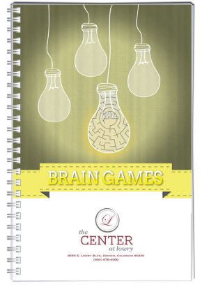 Small print brain games puzzle book