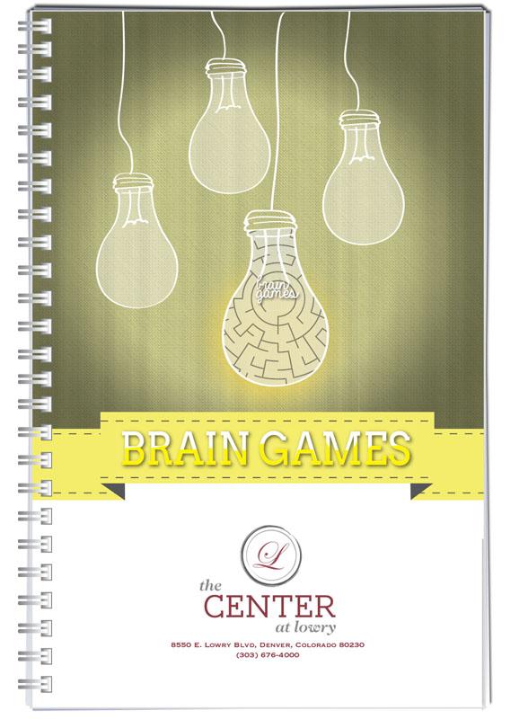 Small print brain games puzzle book