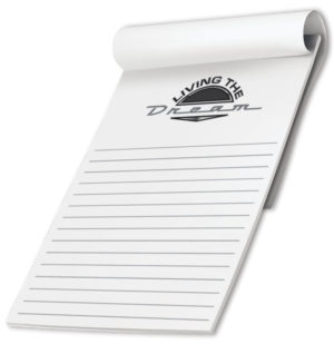 black and white scratch pad